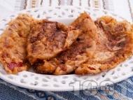 Рецепта Панирани червени чушки